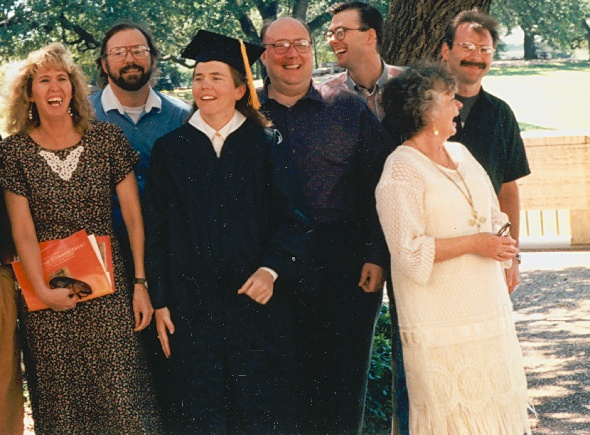 Aileen's Graduation at UT - what the heck was so darn funny?