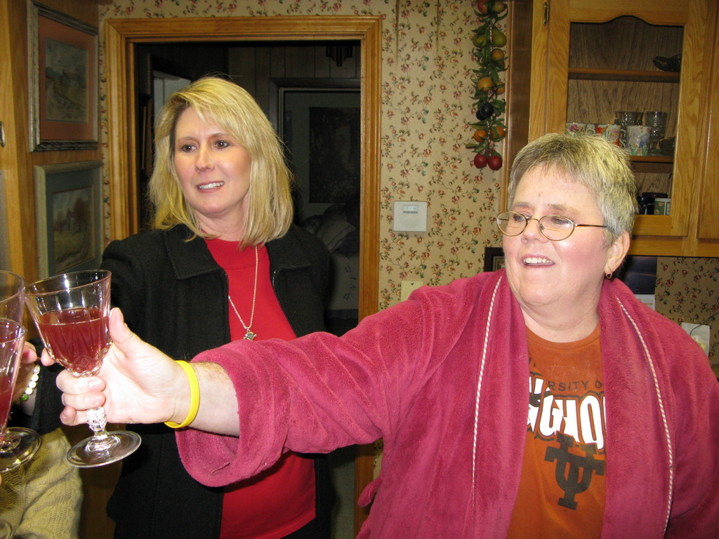 Ann and Aileen - Christmas toast