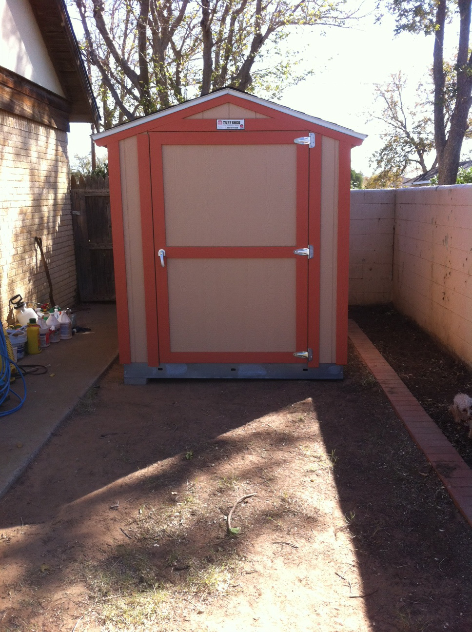Storage Shed for Mom's Birthday